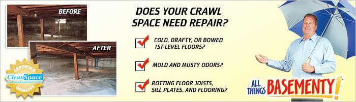 Crawl Space Repair in NJ, including Union City, Edison & Paterson, Toms River.
