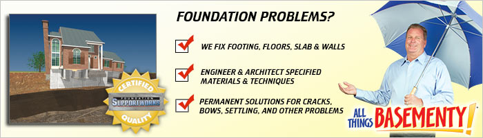 Foundation Repair in NJ, including Paterson, Toms River, NYC, Brooklyn, Bronx, Astoria & Edison.