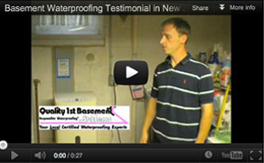 See Quality 1st Basement Systems Video Testimonials